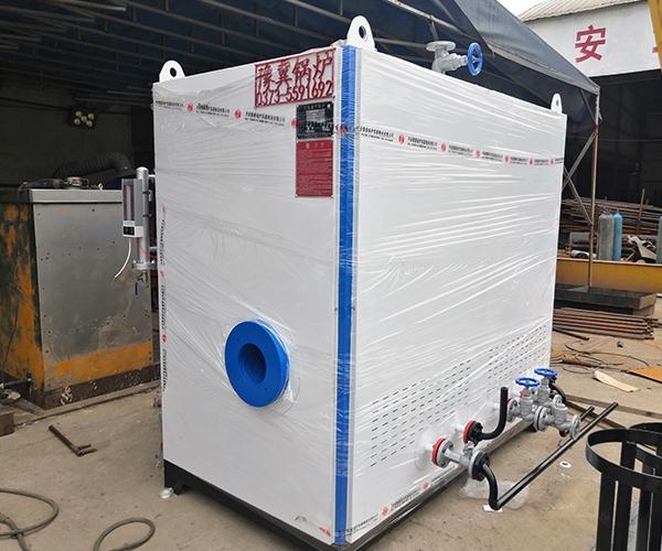 0.3吨卧式蒸汽发生器出厂前调试实机